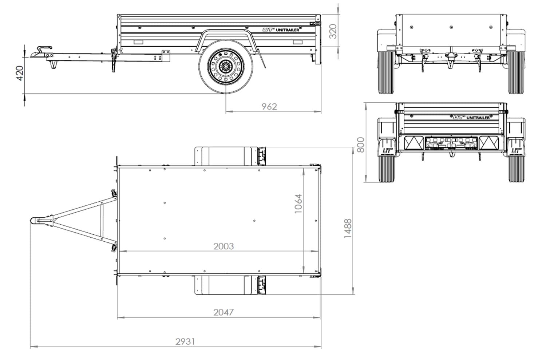 aanhangwagen LOOFREKKEN 750 kg