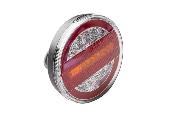 Ronde LED 12-24V multifunctionele achterlamp 4 functies.